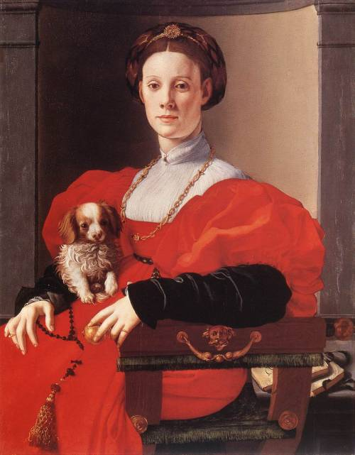 PONTORMO, Jacopo (1494-1557) Portrait of a Lady in Red 1530s Oil on wood, 90 x 71 cm Städelsches Kunstinstitut, Frankfurt