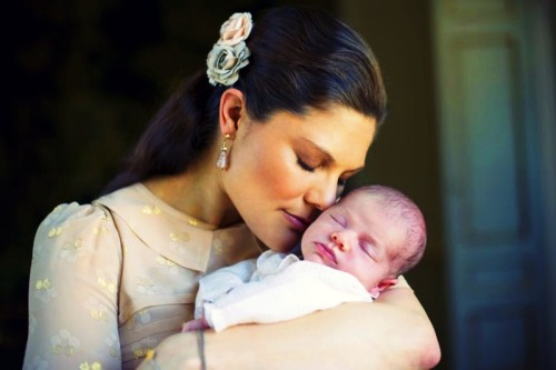 Crown Princess Victoria and her daughter Princess Estelle.