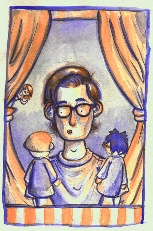 watercolor portrait of neil cicierega for my illustration class