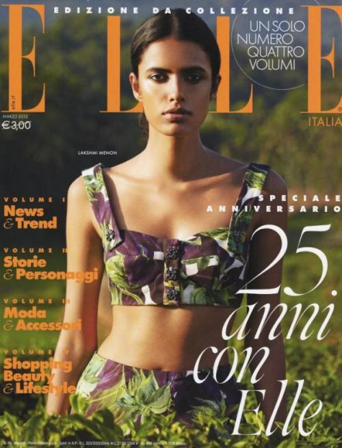 The beautiful Lakshmi Menon on the cover of Elle Italia in Dolce & Gabbana