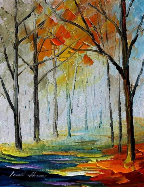 Leonid Afremov - Quiet Path. Natural oil on 100% pure cotton canvas