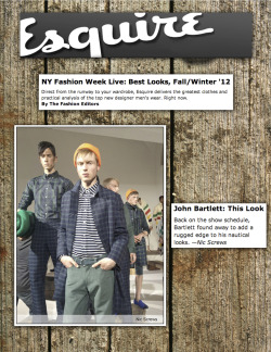 esquire - editors pick #1 - f/w '12