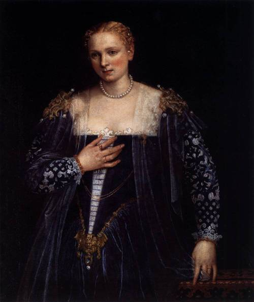 VERONESE, Paolo (1528-1588) Portrait of a Venetian Woman (La Belle Nani) c. 1560 Oil on canvas, 119 x 103 cm Musée du Louvre, Paris