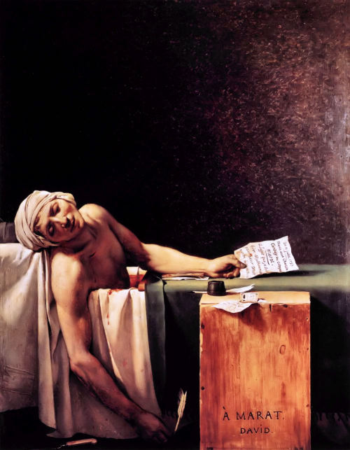 just-art:  Death of Marat, Jacques-Louis David.