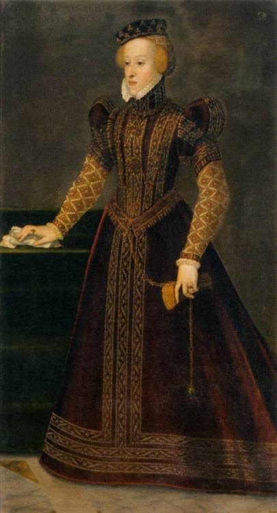 TERZIO, Francesco (1523-1591) Archduchess Barbara 1565 Oil on canvas Kunsthistorisches Museum, Vienna