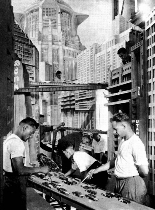 theremina:  Metropolis: Behind the Scenes, c. 1925-1926 (via Retronaut)