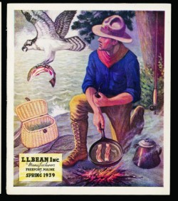"The cover of the Spring 1939 L.L. Bean catalog is one of many vintage company images included in the 100th anniversary edition of ""Hunting, Fishing and Camping."""