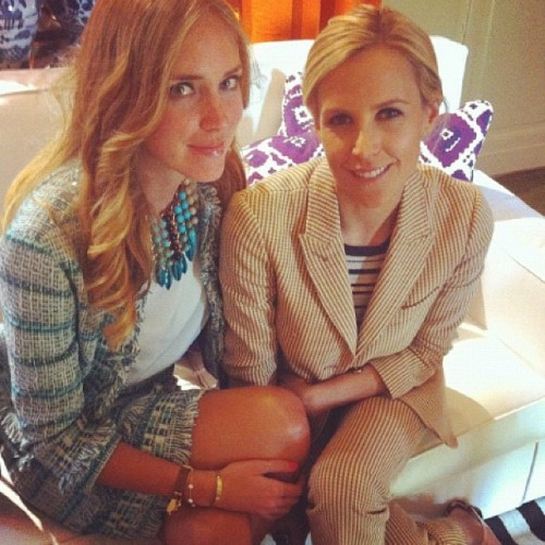 Loving @chiaraferragni in the #dannijo Medine bib with @toryburch #putabibonit  (Taken with instagram)
