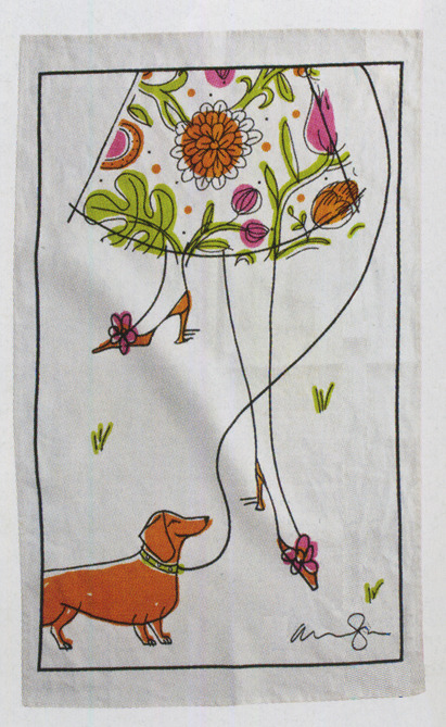 My tea towel created for The Hudson Bay Designer series. Available April 20th 2012 at The Bay.