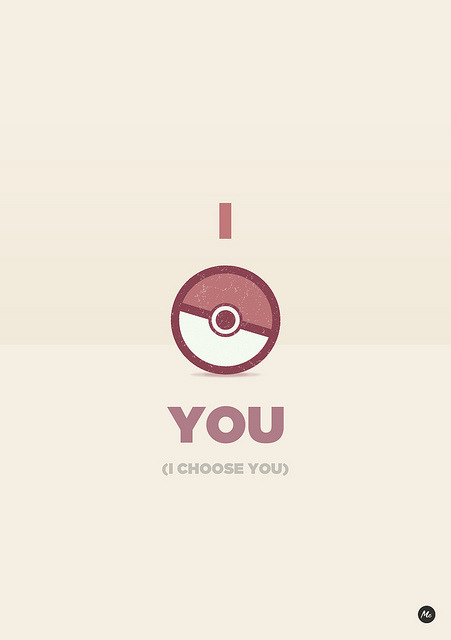 heyoscarwilde:  I choose you Pokémon illustration by Marcos Chamizo :: via flickr.com