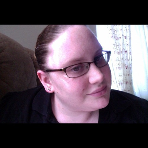 My mother tells me I look very stern&unfriendly w/ my hair up. Do you agree? (Taken with instagram)
