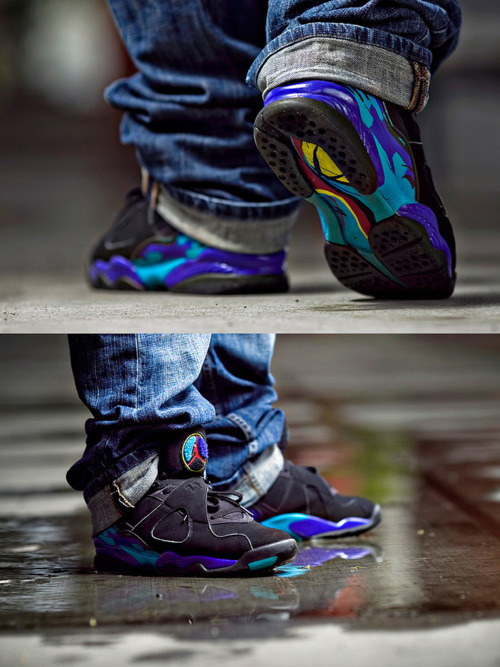aqua 8's so gorgeous! #jordan #8 #aqua #holygrail #sneakerhead #swag