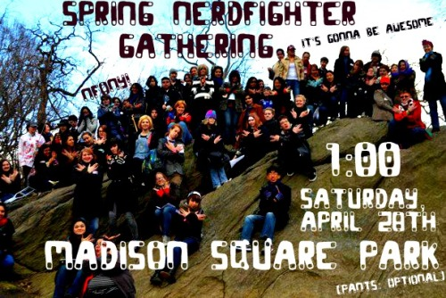 "NFONY SPRING GATHERING!  This is gonna be a big one, guys! Our biggest yet, prehaps! hosted by charlotte and kelly.  RSVP ON FACEBOOK, please. Track the tag ""spring nerdfighter gathering"" for updates"