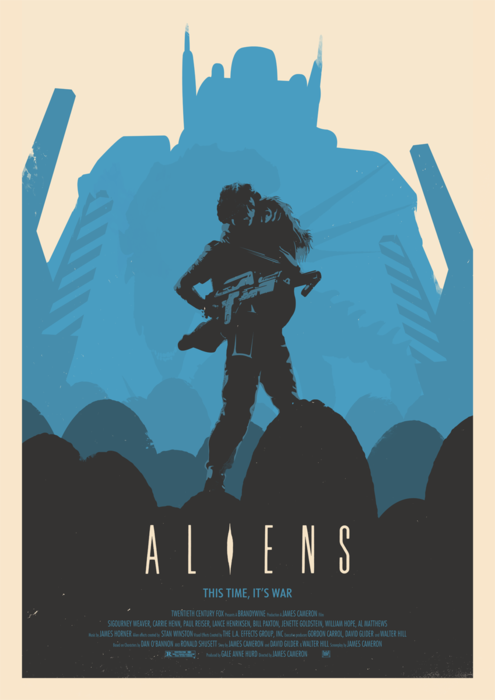 "85anti:  ""Aliens"" alternative poster by Edward Brown-Greaves"