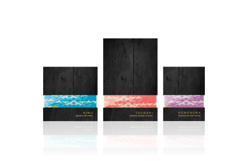 Tatcha Packaging Concept Tatcha is a very high end beauty product (upwards of $150 per bottle) built around the story of the Japanese Geisha's beauty ritual. After the success of their Aburatorigami blotting papers, Tatcha asked Tether to design a packaging system for a series of products made from pure, traditional Japanese ingredients. The work featured here represents a concept for this series. The colors are designed to help navigate the different parts of the regimen with the intent that there may be more products in the future that fit into each of the three categories. The outer wood box is lined with padding and a piece of kimono fabric, color coded to match. When the box is closed, a piece of glass reveals the kimono's color. One specific innovation is in the Tsubaki product's vessel. The top swivels around the small button to open the package. The button is the pump and the product comes out of the lid that overhangs the product, much like the standard lotion pump, only more sleek. This concept was not selected, but aspects of this design are found in the finished packaging. Creative Direction :: Dan SmithDesign (for this concept) :: Evan MacDonaldDesigners (for finished product) :: Carina Skrobecki, Kaisha Hom, Justin LaRosa and others at TetherIndustrial Design :: Jay Ostby, Dave Schlesinger and others at Tether