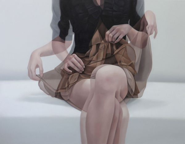 overlapping figure paintings