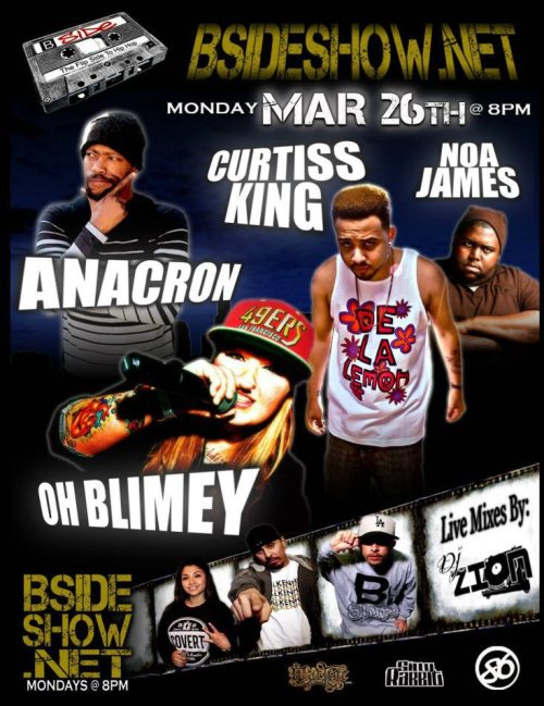 Tonight Curtiss King and I will be on BSIDESHOW.NET tonight it starts @ 8pm tune in.