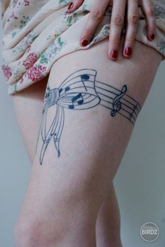 I have this exact tattoo!! But my treble clef is shaded :)
