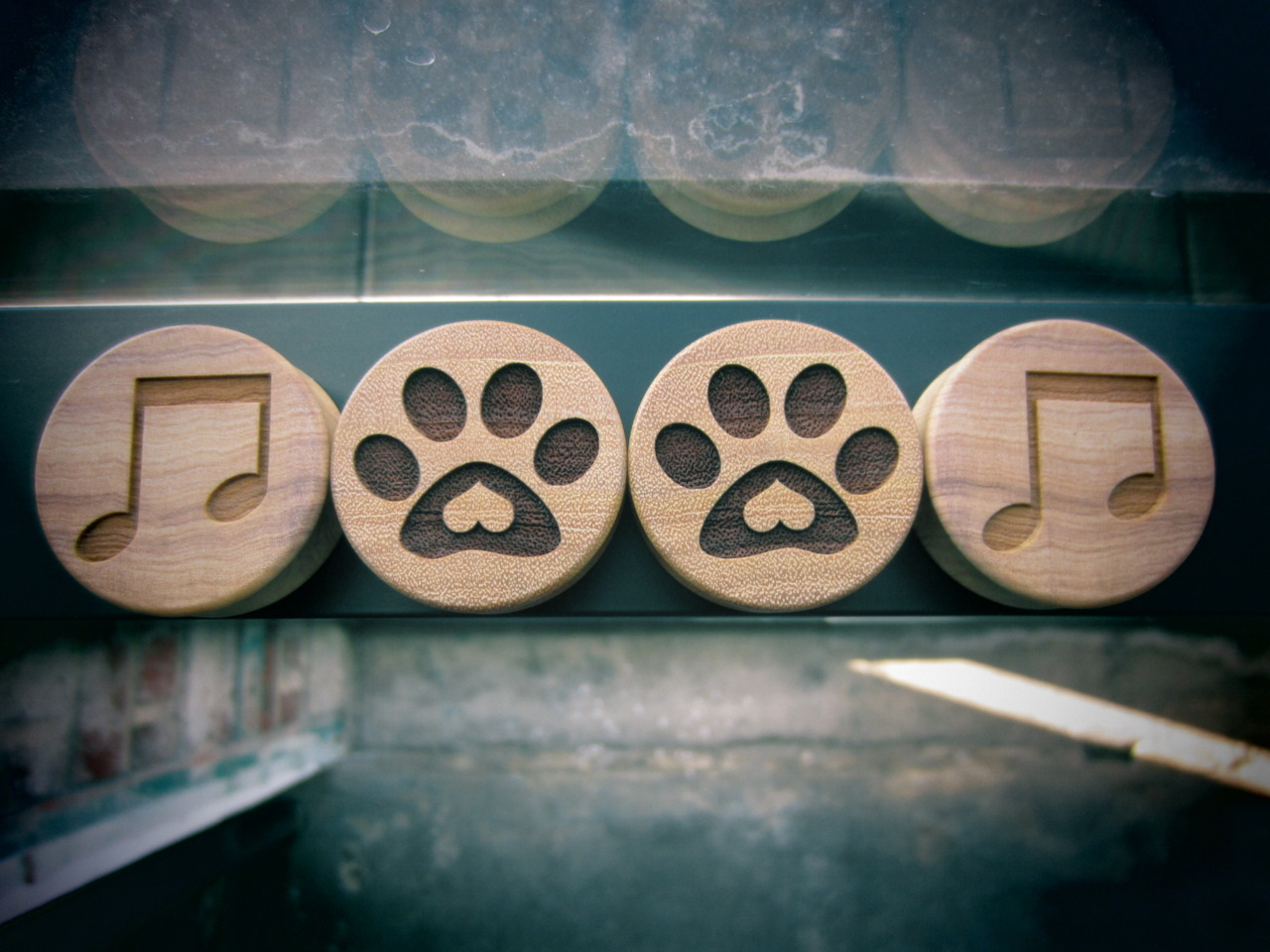 "omericaorganic-official:  1-3/8"" Music Lovers in Wild Olive Puppy Love in Osage Orange Made in Denver  How awesome is Omerica Organic? Use EMILY at checkout for 20% off!"