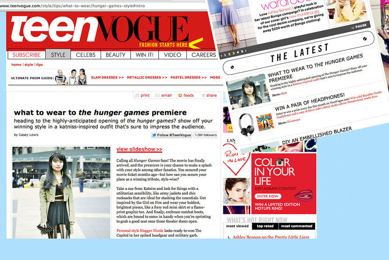 Hunger Games, anyone? Check out Nicole on TeenVogue.com