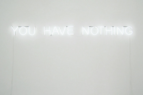 nevver:  You Have Nothing