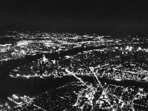 a new york descent at night