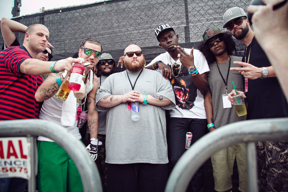 The new generation?? thefader:  RIFF RAFF, SCHOOLBOY Q, ACTION BRONSON, THEOPHILUS LONDON, AB-SOUL BACKSTAGE AT FADER FORT