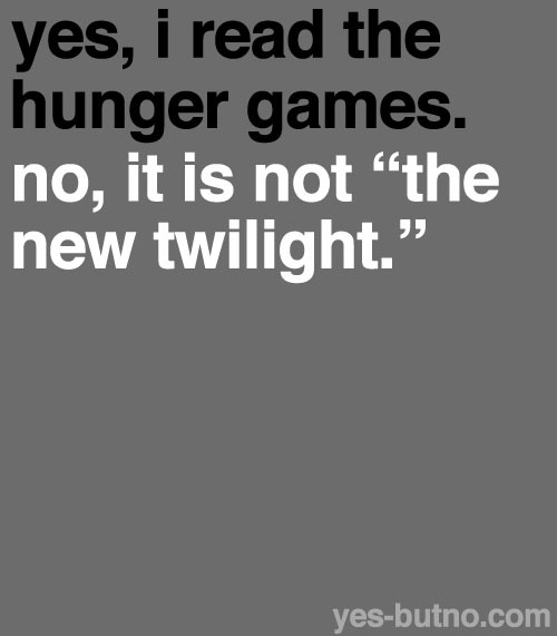 "yes-butno:  and it's not ""just like twilight"""