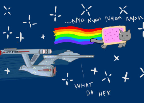 star-trek:  Enterprise and Nyan Cat by ~netnavi20x5 (via @deviantart)