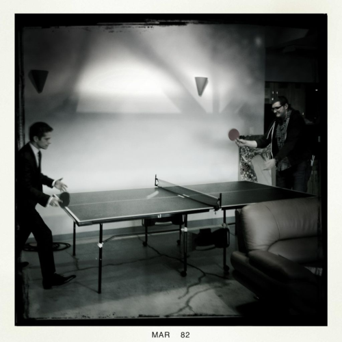@MrJoshCharles: Matt Czuchry & Jack (PA) playing ping pong during lunch. Matt just dusted Noth & is unquestionable champ.#GoodWifeCrew http://t.co/XKSzRoRC