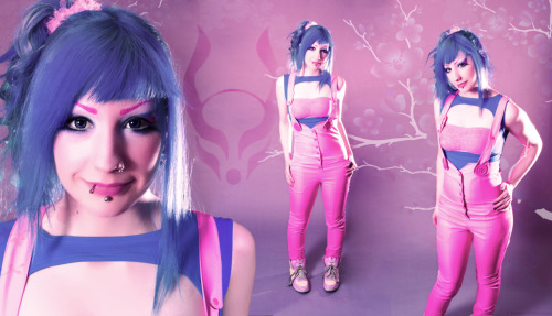 cyberdogbrighton:  The stunning Ellen looks ready for spring in the new pink playsuit! Playsuit Exposure vest Hair Dye: Atomic turquoise Photo by Charles Shepherd  FAVOURITE SPRING OUTFIT <3 Make it ready for summer with the new short pink playsuit :3