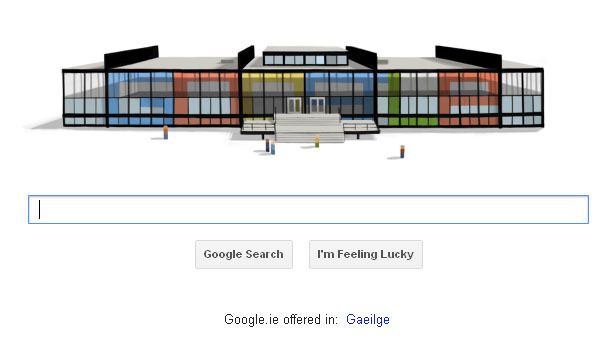 builtenvironment:  Google celebrates Mies van der Rohe  haha, I saw this post before it was Tuesday in our time zone and thought we wouldn't get to see this awesome doodle! :P