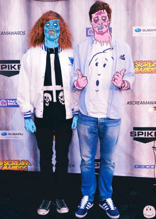 HOLD UP. Blake Anderson wearing Actual Pain? I can't even begin to explain how into this I am.