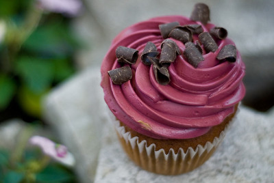 Merlot Pear Cupcake by aubreyrose on Flickr.
