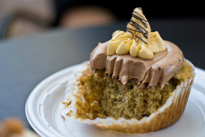 Banana Nutella Cupcake Guts by aubreyrose on Flickr.