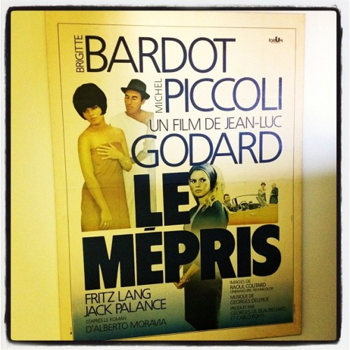 CONTEMPT by Godard - love this movie.  (Taken with instagram)
