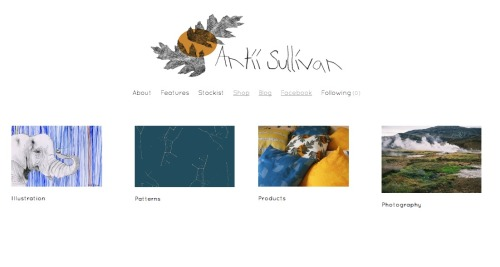 If you haven't seen the new site yet, go have a peek! It has a new shop and link to the Antii Textile blog (click the photo).