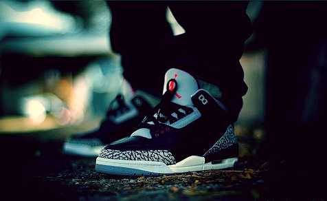 black cement swag! #jordan #3 #blackcement #swag #sneakerhead