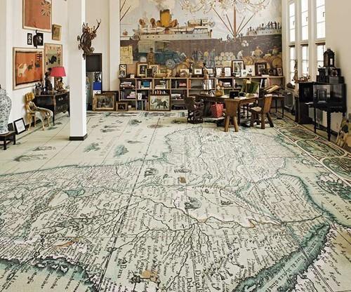 foxontherun:  (via MISCELLANEOUS / Map floor.)