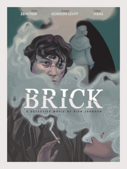limiyi:  My hypothetical redesigned poster for the movie Brick. Look at my process here.