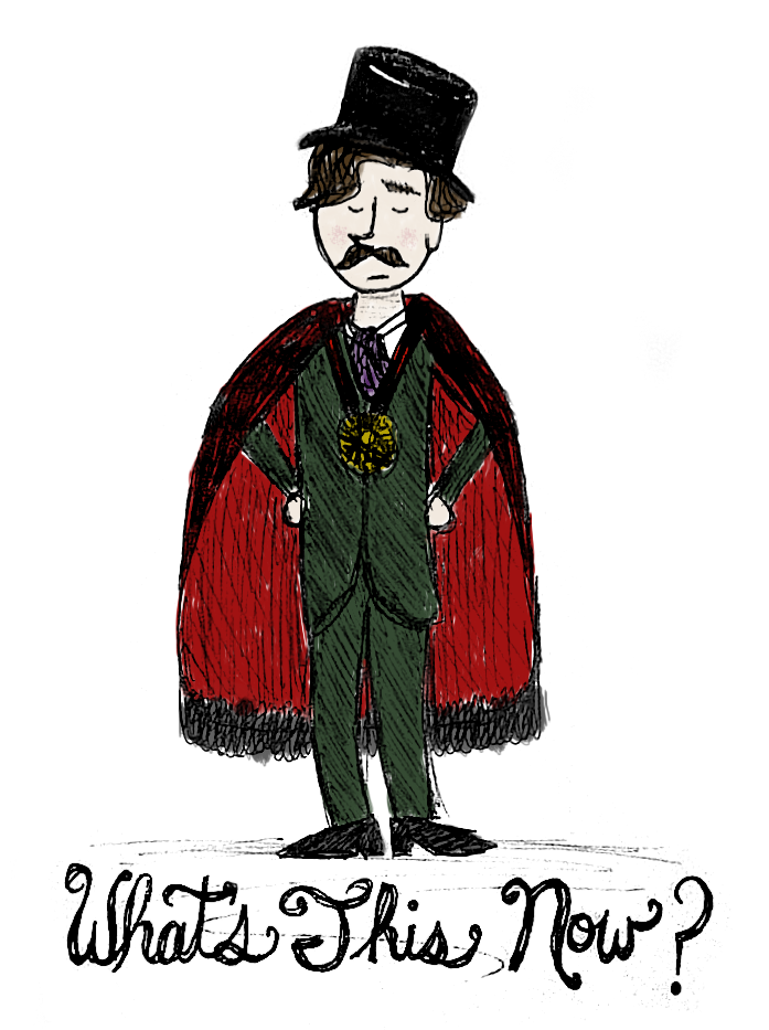 My kinda wonky, hastily drawn/colored Dame Sir Lord Andrew Lloyd Webber. WHAT'S THIS NOW?!?!