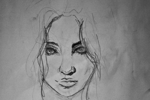 Blind Girl Sketch February 27th 2012