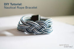 littlecraziness:  (via Nautical Rope Bracelet | How To | Cut Out Keep)