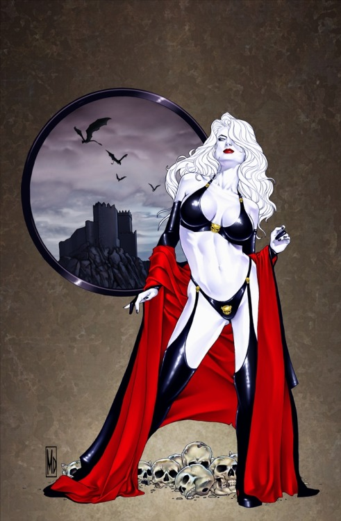 comicsforever:  Lady Death // artwork by Michael DiPascale (2012)