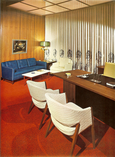 oldflorida:  Florida spaces. ca.1964   Exactly what I picture the Sterling Cooper offices to look like if they relocated to Florida.