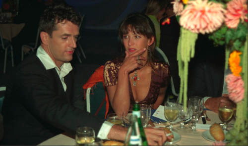 Sophie Marceau, vaguely doubting Rupert Everett at the 1997 Deauville Film Festival.