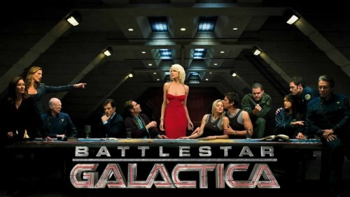 Battlestar Galactica (2004-2009) TV-14 - Seasons 1-4 Deep in the universe, cybernetic Cylons have all but wiped out the human race, laying waste to the Twelve Colonies of Man. Cast out, the few survivors aboard the Battlestar Galactica search for a so-called 13th colony: the mythical planet Earth. Cmdr. Adama (Edward James Olmos) and President Roslin (Mary McDonnell) lead the desperate quest with the Cylons in hot pursuit in this Syfy hit series, a reimagining of the classic 1970s program. 8.9/10 - IMDB View Trailer || Add/Watch on Netflix