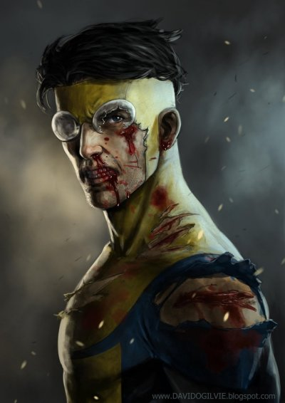 hurmunb:  David Ogilive's realistic rendition of Robert Kirkman's Invincible. (Deviant Art) || (Blogspot) || (Twitter) || (CGHub) ||  Fucking. Sweet. I love Invincible.