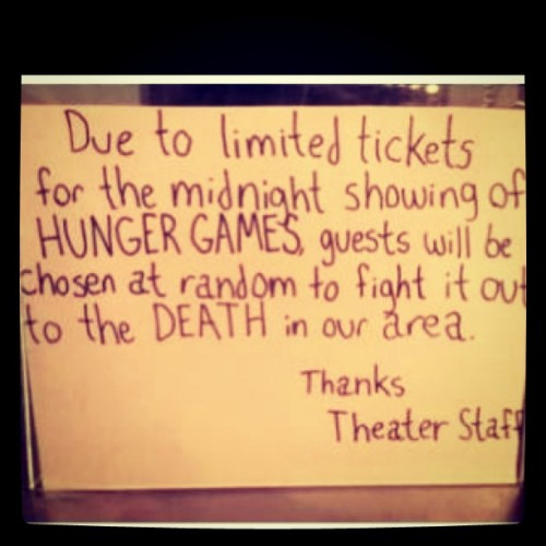 Hahaha great photo made by an actual movie theatre staff.