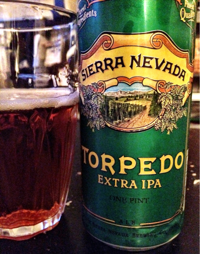 Torpedo Extra IPA, Sierra Nevada Brewing Co., Chico, CA, 7.2% abv. Put a great beer in a tallboy can and I'm going to be happy every time.